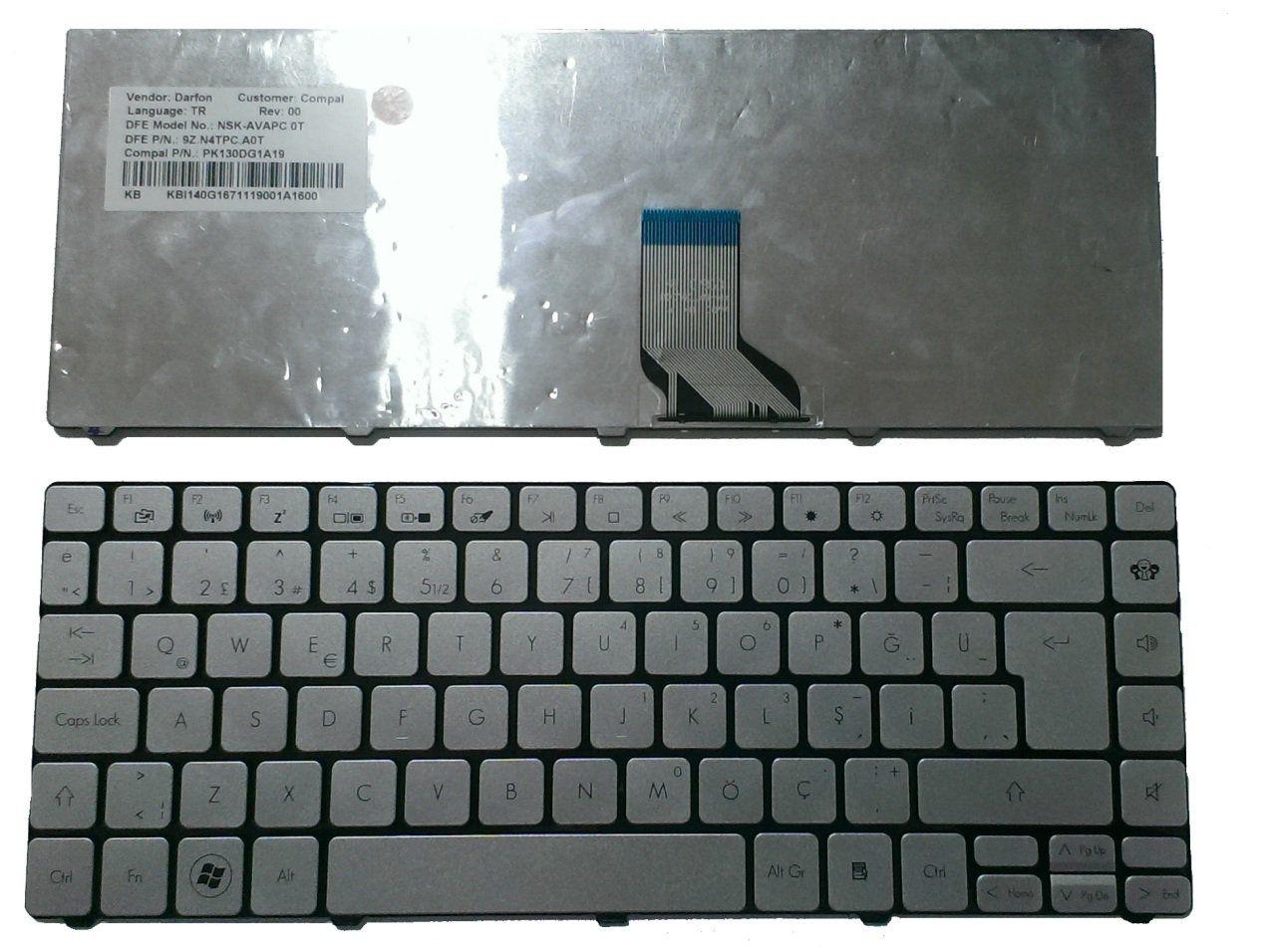 Packard Bell 9ZN4TPW00F Klavye